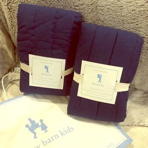 ⭐️NEW⭐️ Pottery Barn Kids Quilted Shams - Navy